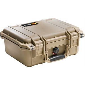 Pelican 1400Dtnf 1400 Case No Foam - Desert Tan