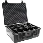 PELICAN # 1550 CASE WITH PADDED DIVIDER SET - BLACK