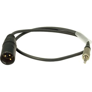 Ambient Recording Adap. cable 3.5 mm TRS screwlock to XLR-3M, EW line out