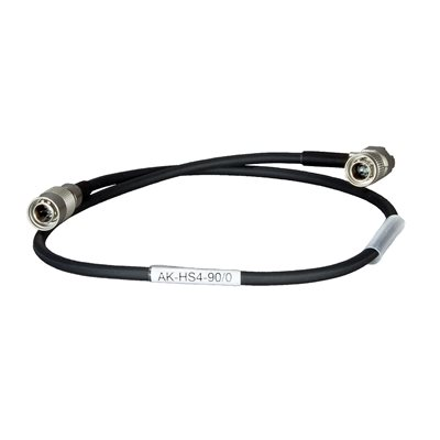Ambient Recording Adapter cable Hirose 4-pin 90° to Hirose 4-pin 90°, 0,5 m