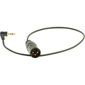 Ambient Recording Adapter cable 3.5 mm TRS 90° to XLR-3M