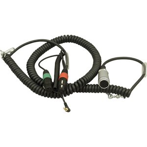 Ambient Recording Coiled mixer / camera loom, 2x XLR-3F + 3.5 mm TRS + HBY7-35