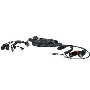 Ambient Recording Coiled mixer / camera loom, SD552, w /  TC, 2 breakouts, XLR-5F