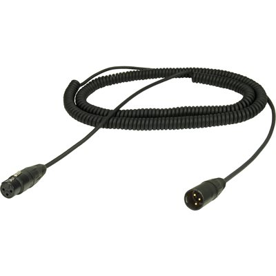 AMBIENT COILED BOOM CABLE XLR3F / XLR3M -100-410CM