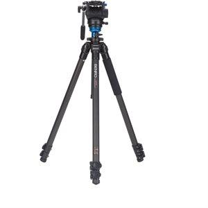 A373F Series 3 AL Video Tripod & S8 Head - 75mm Half Ball Adapter, 3 Leg Sections, Flip Lock Leg Rel