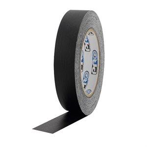 """PRO Tape Pro 46 Black Colored Crepe Paper Masking Tape 1"""" 54m / 60YRD - 3"""" Core"""