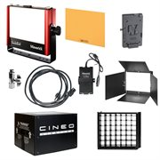 Cineo Maverick3 Bi-Color Portable travel kit. Includes light stand and heavy-duty case.