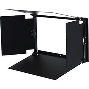 CINEO Lighting LS 4-leaf barn door set, Black anodized aluminum