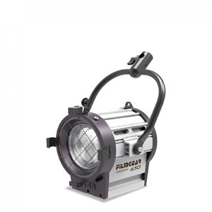 300W JUNIOR LAMPHEAD INCL. 4-LEAF BARNDOOR W / SAFETY WIRE, 80MM LENS & 4MTR CABLE