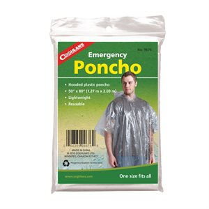 COGHLANS 9676 EMERGENCY PONCHO CLEAR