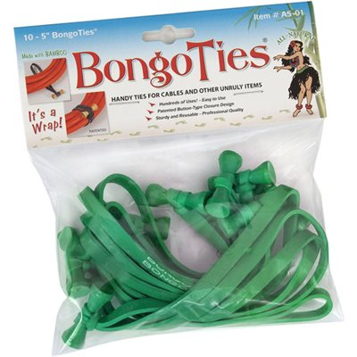 BongoTies ALL-GREEN 10-pack