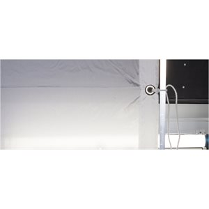 12x12' ARTIFICIAL / POLY SILK, WHITE. (3.6m x 3.6m) by LA Rag House