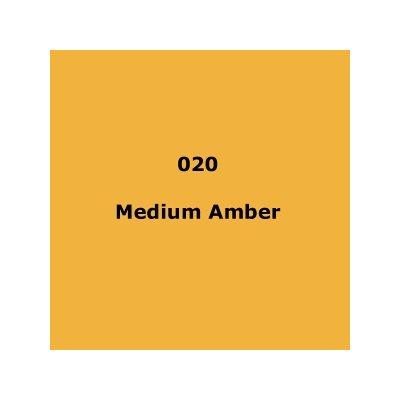 020 Medium Amber roll, 1.22m X 7.62m / 4' X 25'