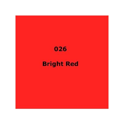 "026 Bright Red sheet, 1.2m x 530mm / 48"" x 21"""