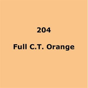 204 Full C.T.Orange roll, 1.22m X 7.62m / 4' X 25'