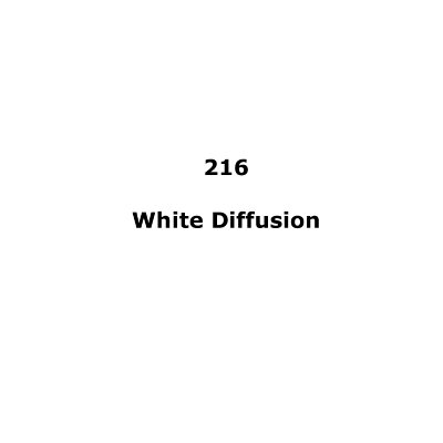 216 White Diffusion roll, 1.22m X 7.62m / 4' X 25'