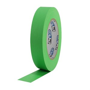 "PRO Tape Pro 46 Light Green Colored Crepe Paper Masking Tape 1"" 54m / 60YRD - 3"" Core"