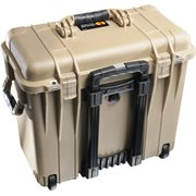 PELICAN # 1440 CASE WITH  OFFICE DIVIDERS AND LID ORGANISER - DESERT TAN