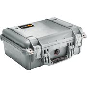 PELICAN # 1450 CASE WITH PADDED DIVIDERS - SILVER