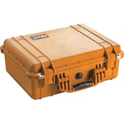 PELICAN # 1520 CASE WITH PADDED DIVIDER SET - ORANGE