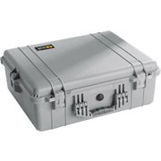 PELICAN # 1600 CASE WITH PADDED DIVIDER SET - SILVER