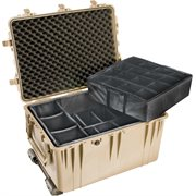 PELICAN 1660 CASE WITH PADDED DIVIDER SET - DESERT TAN