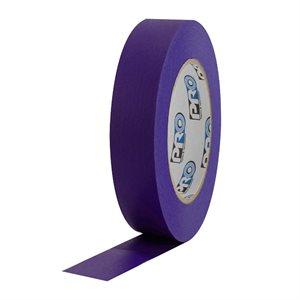 "PRO Tape Pro 46 Purple Colored Crepe Paper Masking Tape 1"" 54m / 60YRD - 3"" Core"