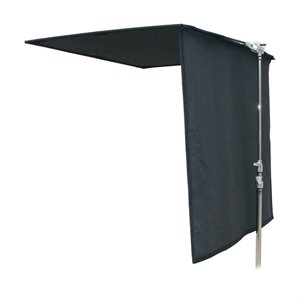 "FLOPPY 48x48"" BLACK CLOTH HINGE IS ADJACENT TO THE SPIGOT by Rocket"