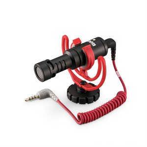 VideoMicro Compact light-weight on-camera mic- Rycote Lyre to camera shoe mount - WS9 & SC2 cable.