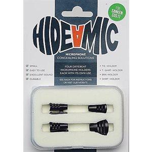 Hide-a-mic for Sanken COS11 set 4 different holders in case, Black