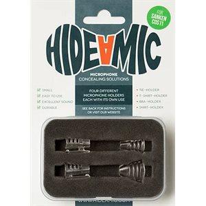 Hide-a-mic for Sanken COS11 set 4 different holders in case, Transparent