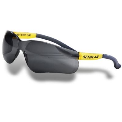 SETWEAR SAFETY GLASSES - SMOKED LENSES