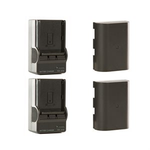 SHAPE Charger kit : two batteries LPE6 + two chargers