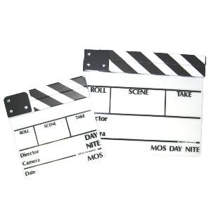 CLAPPER WHITE BOARD B / W STICKS MEDIUM