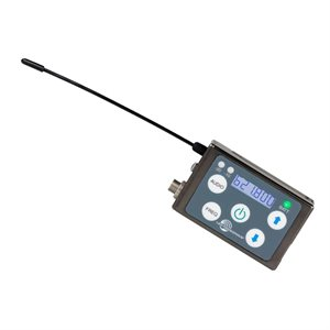 LECTRO MICRO TX 25 50 mW LEMO W / BELT CLIP BATTERY & CHARGER EXPORT. FREQENCY A1 470.100-537.575MHZ