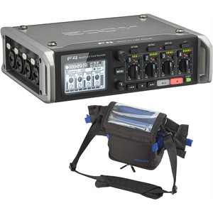 ZOOM F4 FIELD RECORDER + PCF4 CARRY CASE
