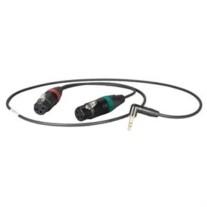Ambient Recording Adapter cable 1 / 8 TRS plug 90° to XLR-3F, L=50 cm