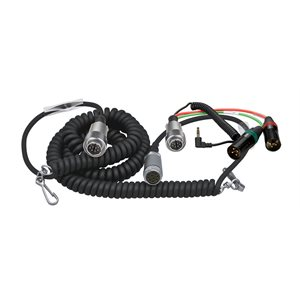 Ambient Recording Coiled mixer / camera loom, Tajimi 12-pin + HBY7-5