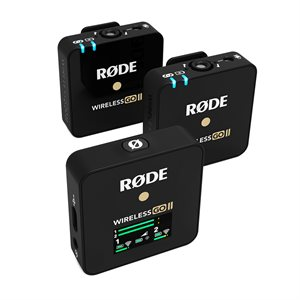 Rode Wireless GO II 2-Person Compact Digital Wireless Microphone System / Recorder - Black