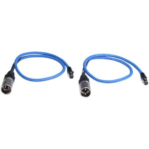SOUND DEVICES TA3-F to XLR-M cable 25-inch connects bal TA3 outputs to bal XLR inputs; 2 pack